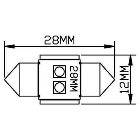 LED-лампа для салону автомобіля UP-SJ-N2-3030-28MM (білий, 12-14 В) Прев'ю 1