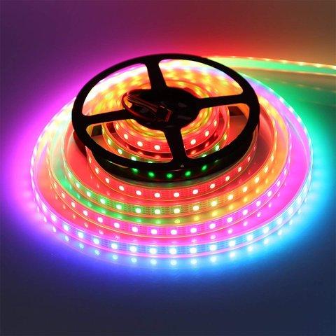 Світлодіодна стрічка RGB SMD5050, WS2815 (чорна, з управлінням, IP20, 12 В, 60 діодів/м, 1 м) Прев'ю 3