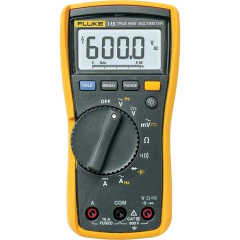 Цифровий мультиметр Fluke 115 + вимірювальний набір TLK-225-1 Прев'ю 1